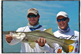 Catalyst Charters with Camp Walker Florida Keys Snook Redfish